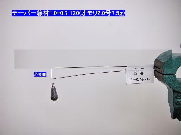 【お得な!パッケージレス】形状記憶合金・テーパー線材 φ1.0-0.7×120mm 吉見製作所 チタンティップ