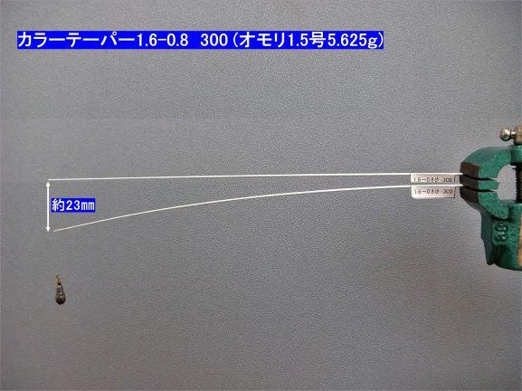 チタンカラーテーパー φ1.6-0.8×300