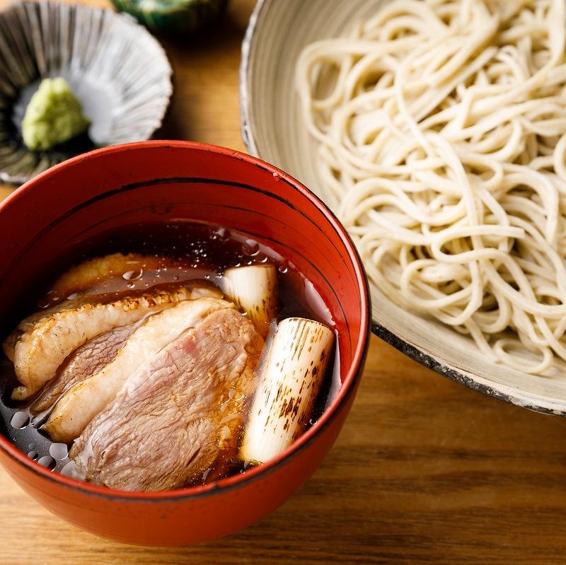 鴨汁そば麹漬け4食・ざるそば2食(瞬そば)