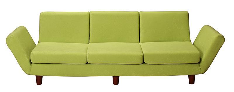 【送料無料】ソファー 3人掛け【Mars】レッド 座椅子と分割できる省スペースリクライニングカウチソファ【Mars】マーシュ【代引不可】