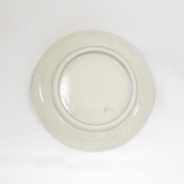 染付花蝶文鎬5寸皿