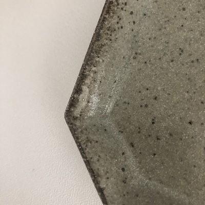 隅入り角皿 長石釉