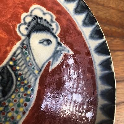 赤絵鶏文鉢