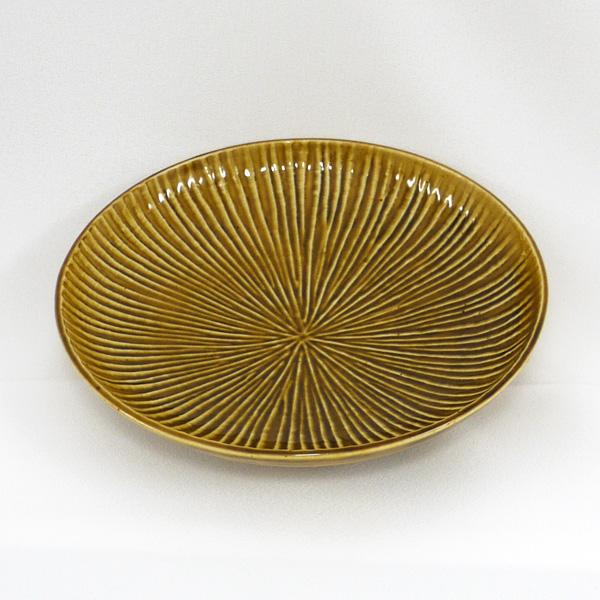 黄磁陽刻線5.5寸皿