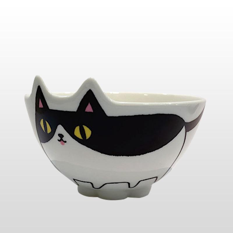 猫柄食器|猫3兄弟 猫型飯碗 hatiware