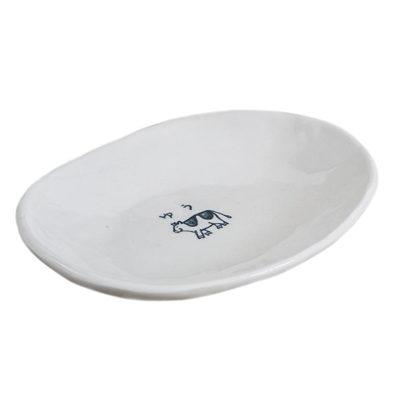 名入れ干支食器・だ円皿