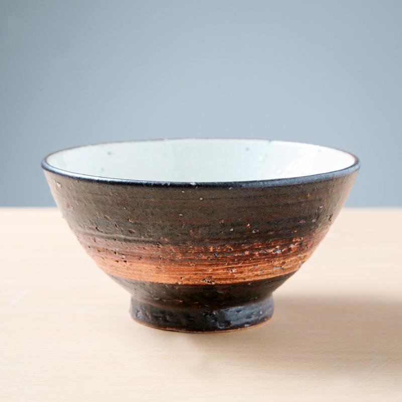 【Ashworkオリジナル】陶器製ご飯茶碗 (小)ash486【すっと手になじむ】
