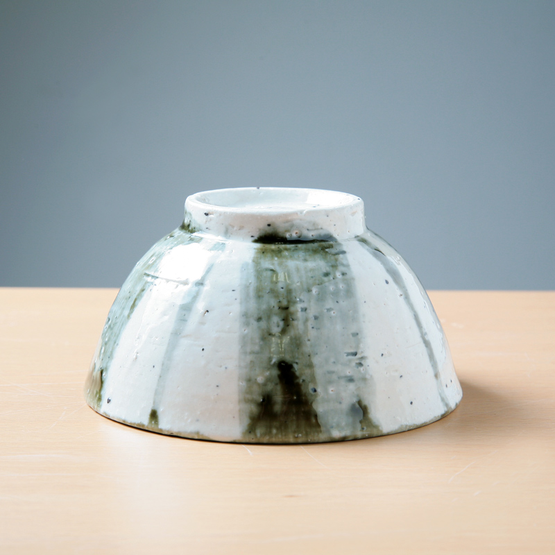 【Ashworkオリジナル】陶器製ご飯茶碗 ash490【すっと手になじむ】