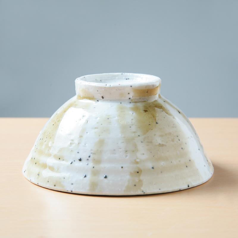 【Ashworkオリジナル】陶器製ご飯茶碗(小)ash62【すっと手になじむ】