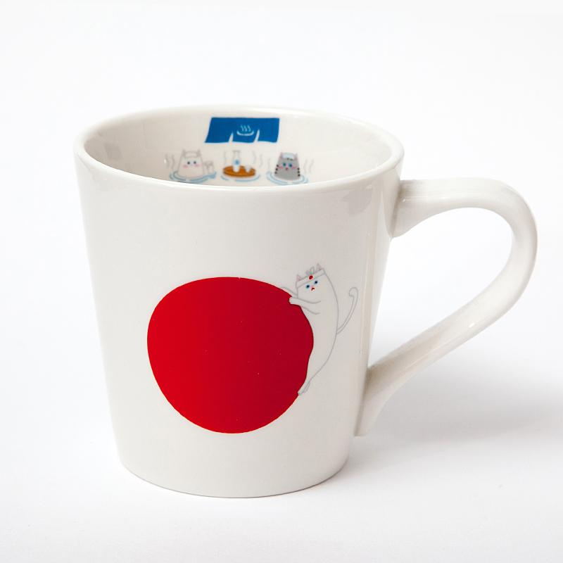 猫柄食器|猫国旗マグカップ(JAPAN)