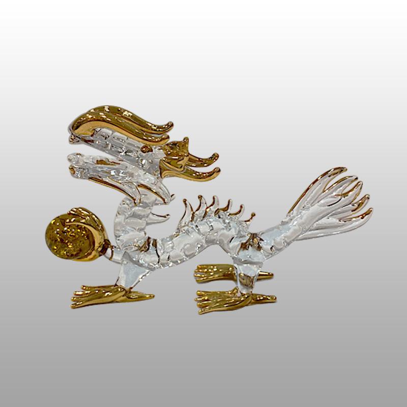 【龍の置物】金運玉持ち龍 4インチ