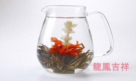 工芸茶トリュフボックス(茶) Flower Crafted Tea in Truffle Box (brown)