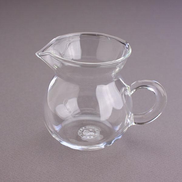 茶海 中  ガラス 170cc 縦型(持ち手あり)