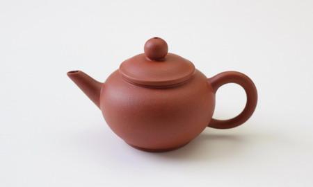 茶壷 宜興紫砂水平壷 紅泥  50cc
