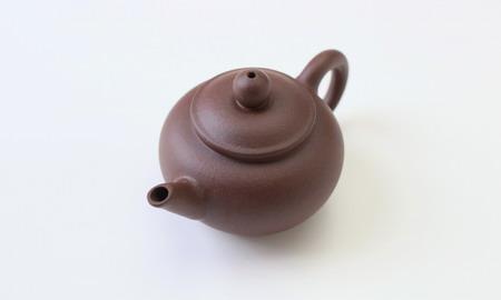 茶壷 宜興紫砂水平壷 紫泥  50cc