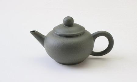 茶壷 宜興紫砂水平壷 緑泥  50cc