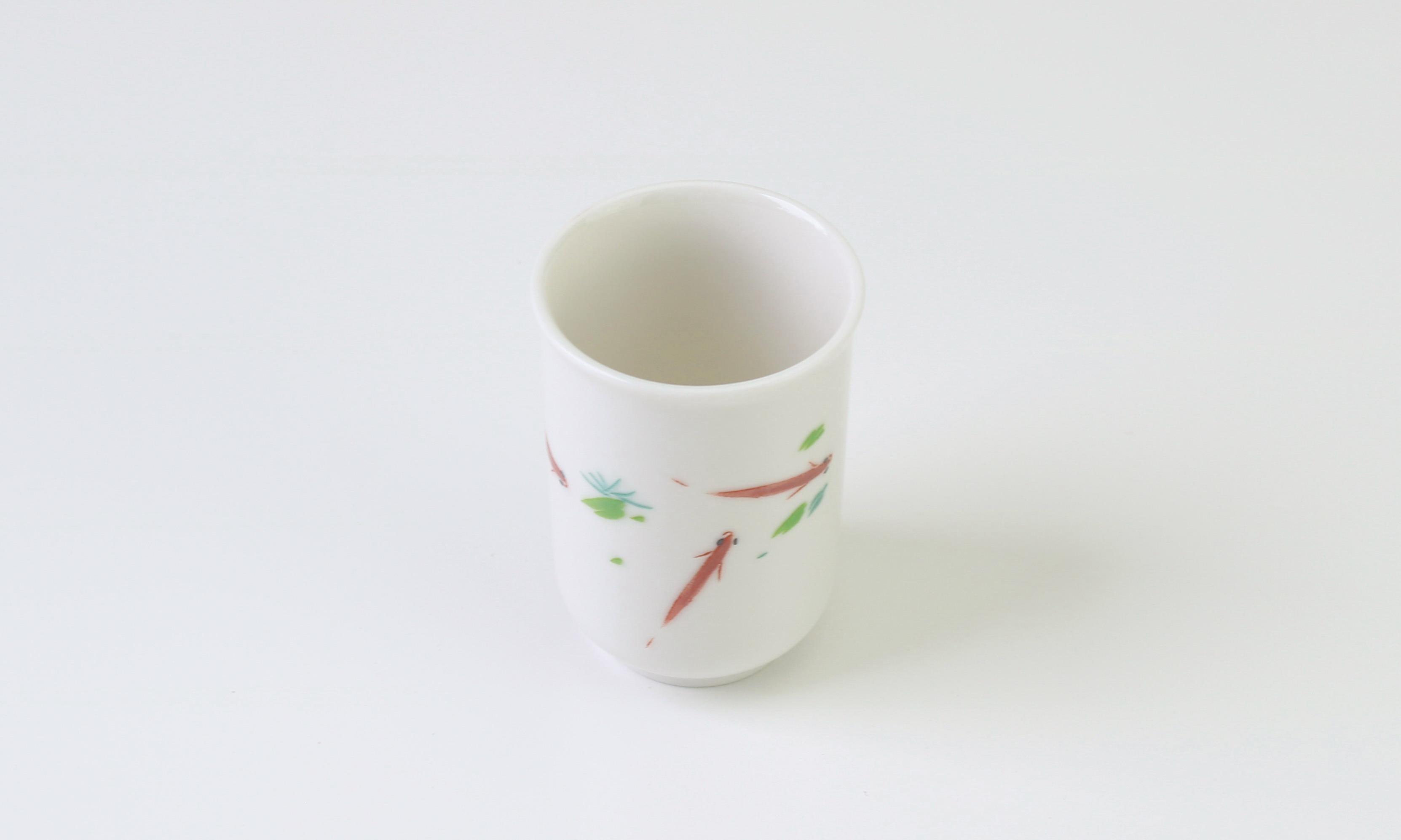 飲杯 牙白 聞香杯浮魚 35cc いんはいがはくもんこうはいうきうお Smelling cup Pelagic fish