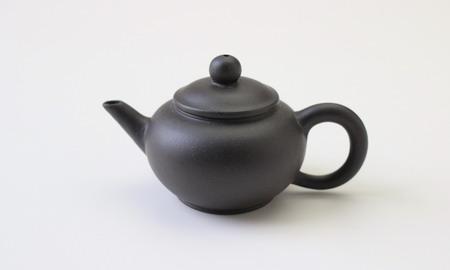 茶壷 宜興紫砂水平壷 黒泥  50cc