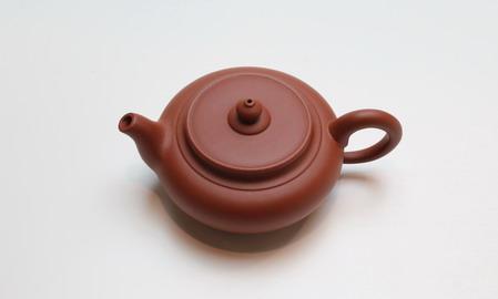 茶壷 宜興紫砂偏古壷 朱泥 105cc