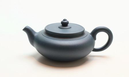 茶壷 宜興紫砂偏古壷 緑泥 120cc