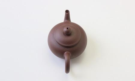 茶壷 宜興紫砂水平壷 紫泥  120cc