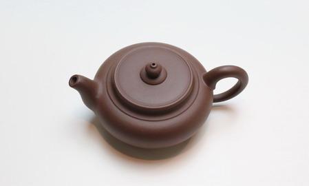 茶壷 宜興紫砂偏古壷 紫泥110�