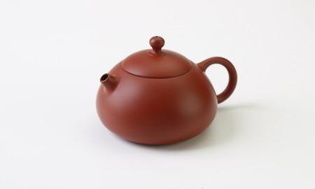 茶壷 台湾 扁西施壷 朱