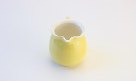 茶海 磁器 嬌黄裏白小品