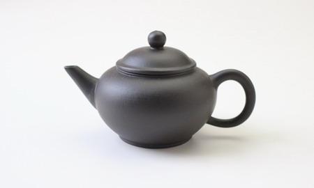 茶壷 宜興紫砂水平壷 黒泥  110cc