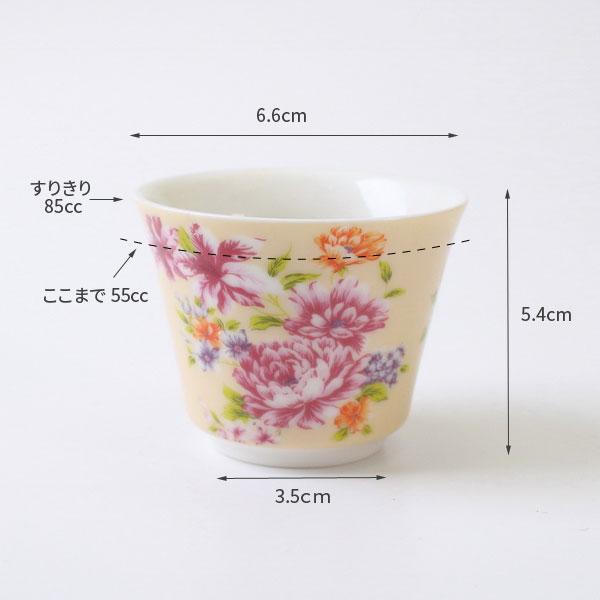 【ギフト箱入り】(オンライン限定】台湾茶杯セット 台湾花布 飲杯 5色セット 55cc  (ベージュ、ピンク、赤、ブルー、薄紫) 台湾茶器 茶杯