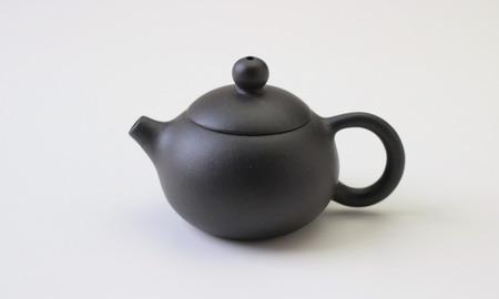 茶壷 宜興紫砂西施壷 黒泥  53cc