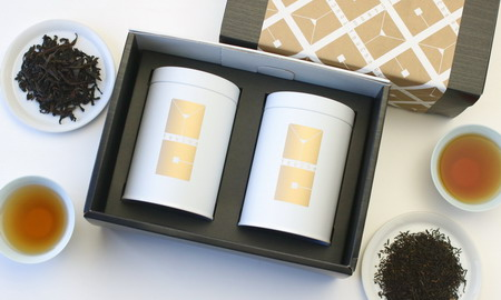 """深みある""""アロマとコク""""紅茶と烏龍茶 缶入2種セット(巌茶奇蘭+特級祁門紅茶)"""