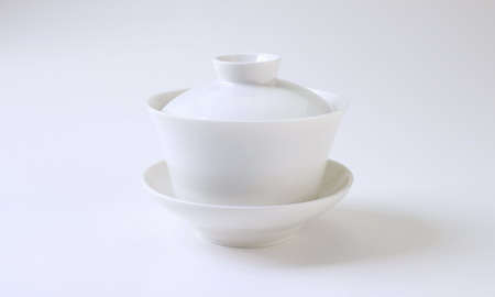 蓋碗 磁器 牙白 110cc がいわん がはく gaiwan white ceramic 110cc