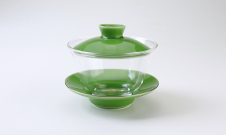 蓋碗 ガラス 蘋果緑 がいわんがらすりんごりょく