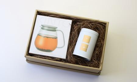 ワンタッチティーポット&工芸茶コレクションセット Flower Crafted Tea & Glass Tea Pot