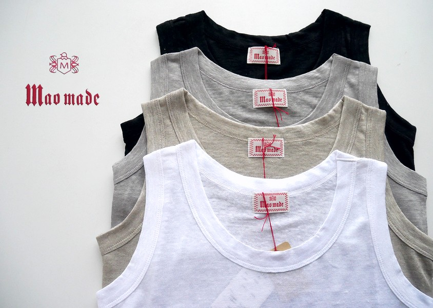 【mao made(マオメイド)*ベルギーリネンタンク(3色)】