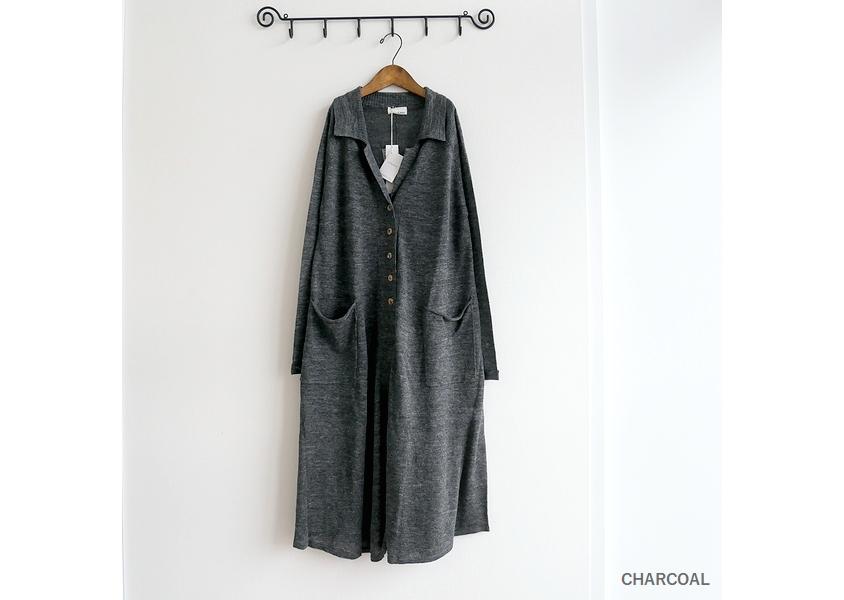 【a+koloni(コロニー)*リネンガーゼローブワンピース(3色)】