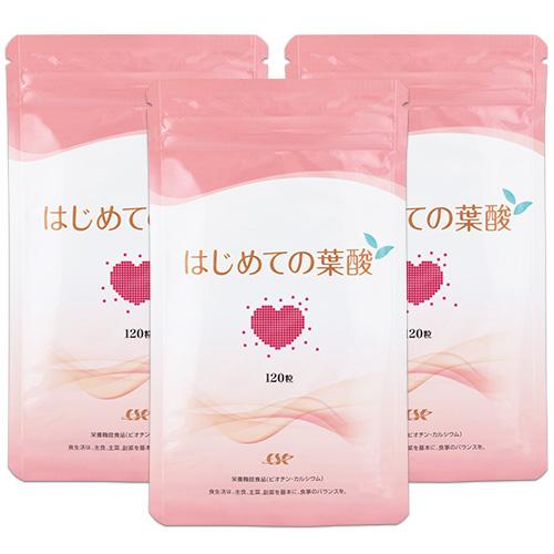【単発】はじめての葉酸 お得な3袋セット/送料無料 (90日分)