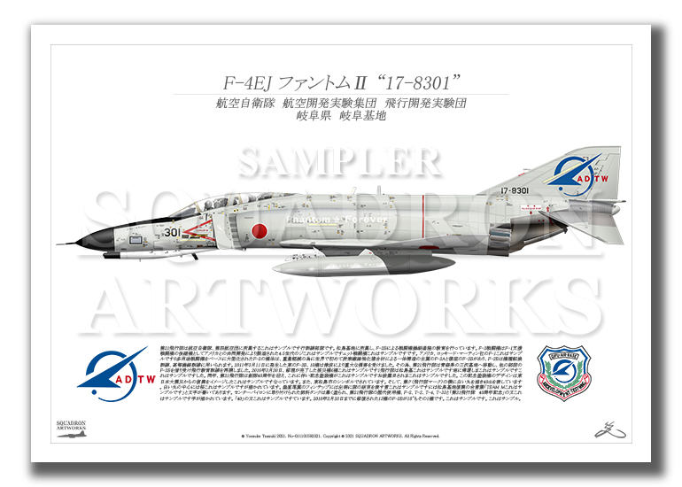 "F-4EJ 飛行開発実験団 Last Phantom ""17-8301"" Thank You 1971-2021 (A3サイズ Profiles)"