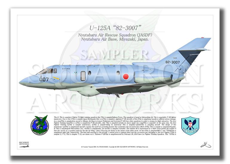 "U-125A 新田原救難隊 ""82-3007"" (A2サイズ Prints)"