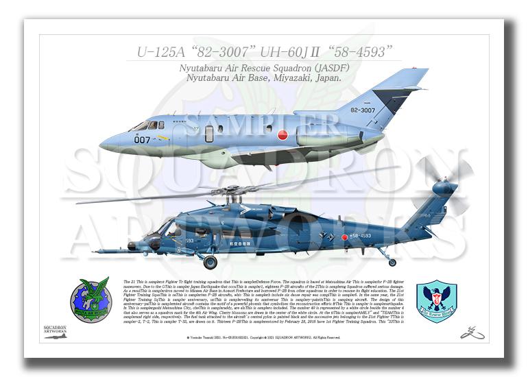 U-125A/UH-60J� 新田原救難隊 2機ver (A3サイズ Prints)