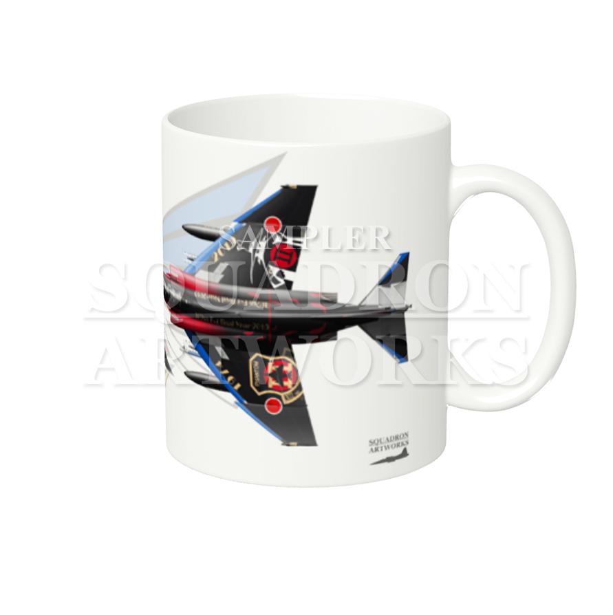 """マグカップ F-4EJ """"改""""  第302飛行隊 F-4 final """"黒塗装"""" Tail-Top"""