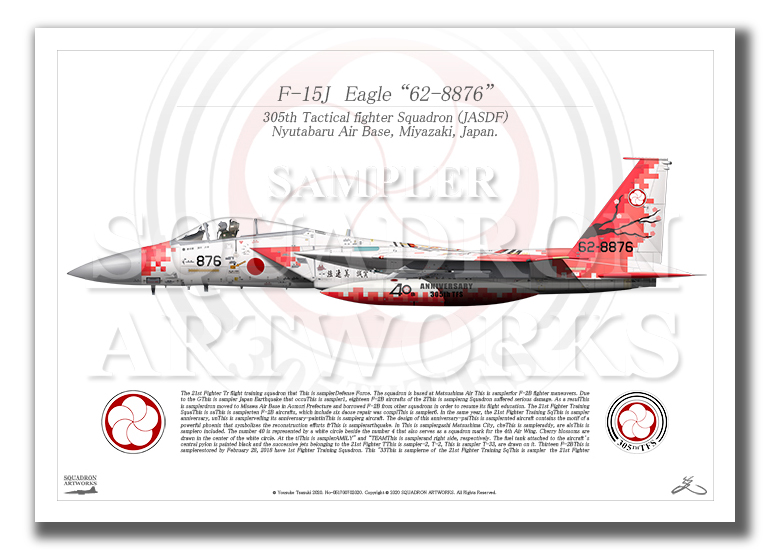 F-15J イーグル 第305飛行隊 40th Anniversary  (A3サイズ Prints)