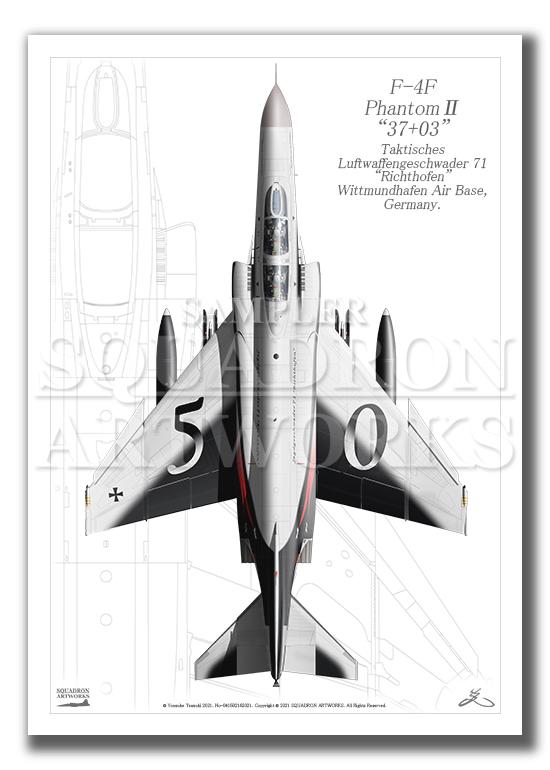 "Top view F-4F Phantom� JG71 ""Richthofen"" 50th Anniv  (A4サイズ Prints)"