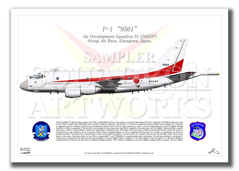"""P-1 TRDI / 航空集団 第51航空隊 """"5501"""" (A4サイズ Prints)"""