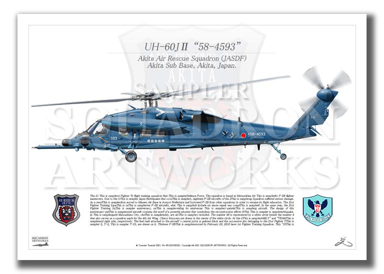 "UH-60J� ""58-4593"" 秋田救難隊 (A4サイズ Profiles)"