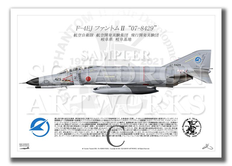 "F-4EJ 飛行開発実験団 Last Phantom ""07-8429"" (A4 size Prints)"