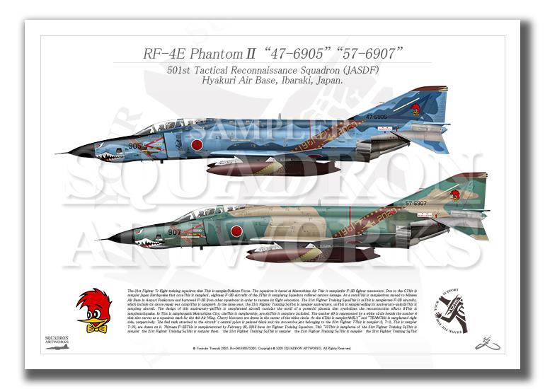 RF-4E/EJ ファントム� 1961-2020 記念塗装機 2機ver  (A3サイズ)