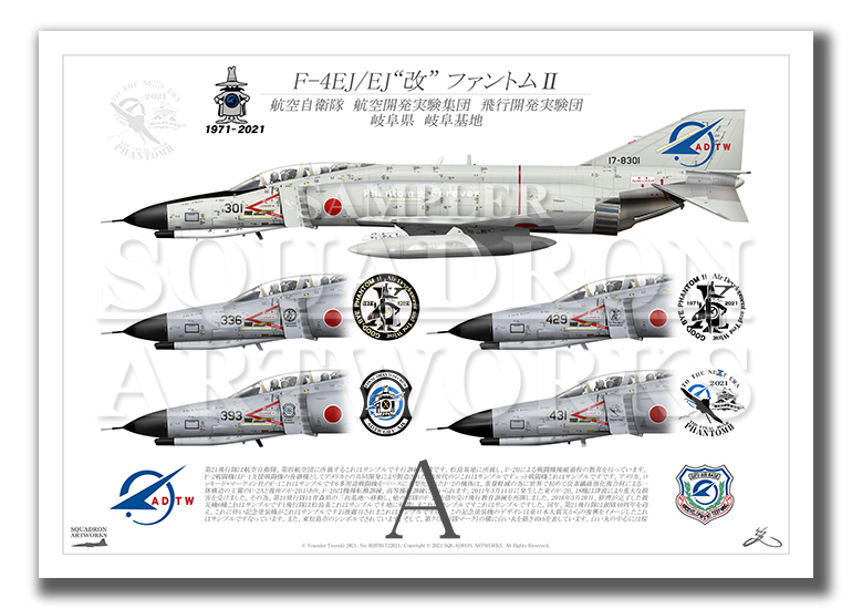 F-4EJ/EJ改 飛行開発実験団 Last Phantoms 5機ver (A2サイズ)