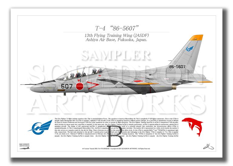 "T-4 第13飛行教育団 ""86-5607""  (A4サイズ Prints)"